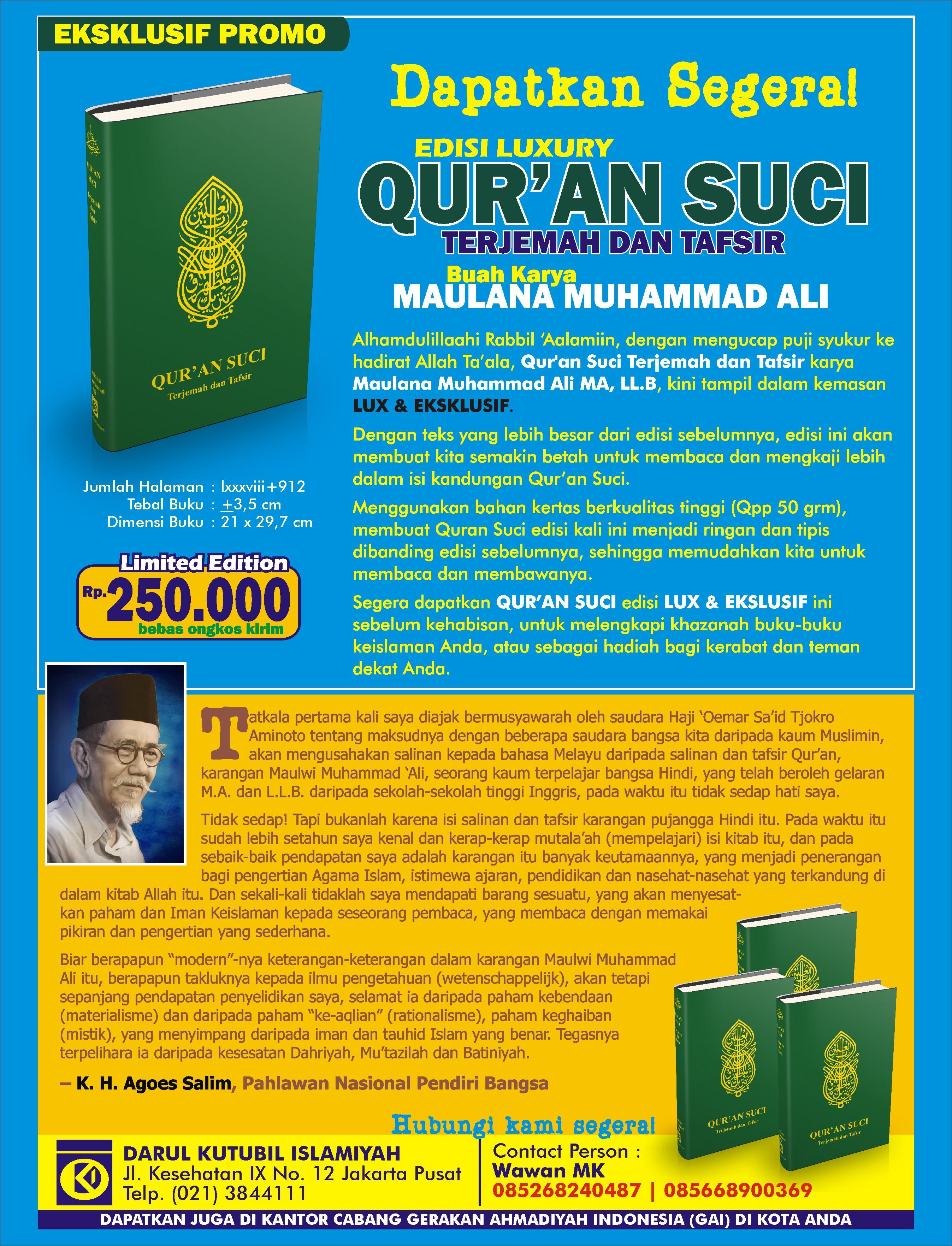 Promo Qur'an Suci