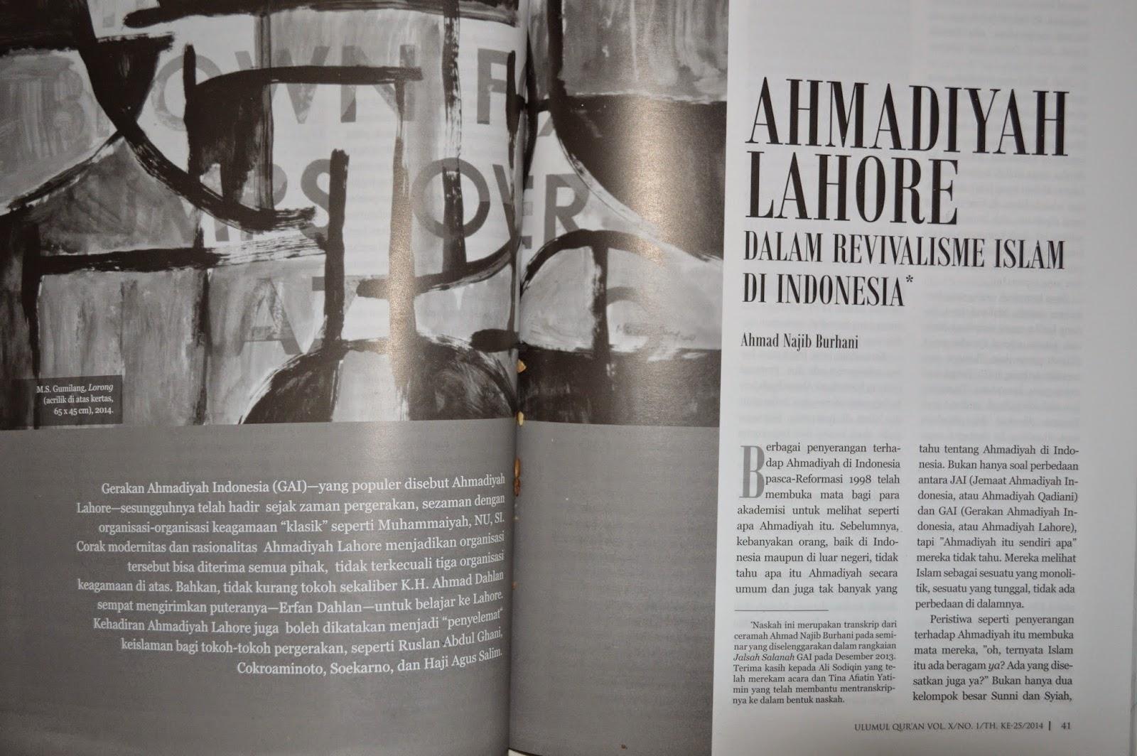 Ahmadiyah Lahore dalam Revivalisme Islam di Indonesia